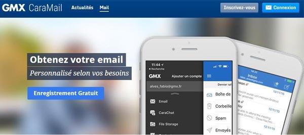 Créer un compte email gratuit gmx caramail