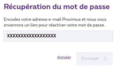 Mot de passe Skynet webmail oublié