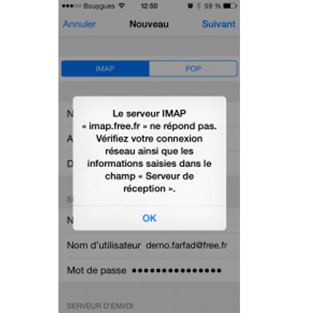Mail bloqué dans boite d envoi free