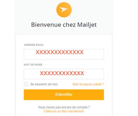 Mailjet connexion
