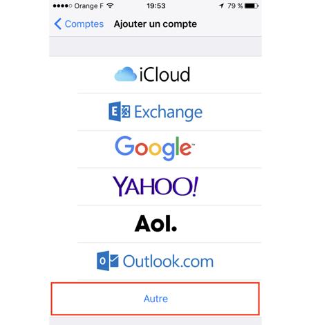 Parametrage boite mail bbox