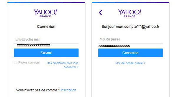 Yahoo mail se connecter