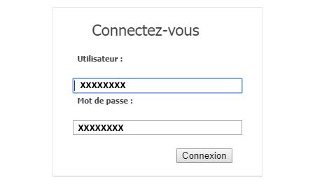 Formulaire de connexion messagerie gnet en ligne