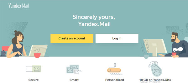 Créer un compte Yandex mail France