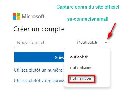 Créer une adresse email Hotmail.com