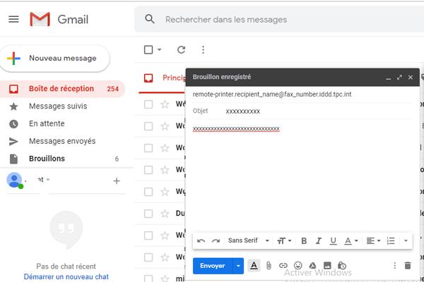 envoyer des fax de gmail par ordinateur