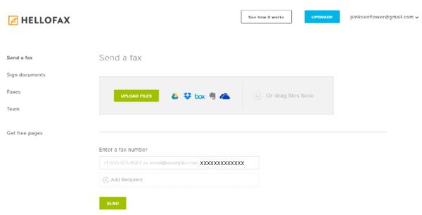 Envoyer un fax par hello Fax
