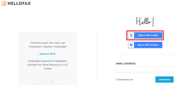 télécharger Hellofax pour gmail