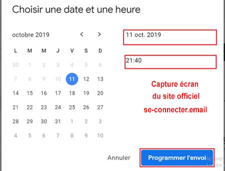 programmer l'envoi de mail automatique gmail