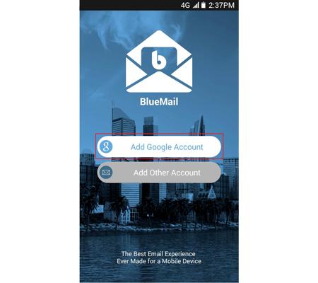 Accèder à son compte de messagerie sur Blue Mail