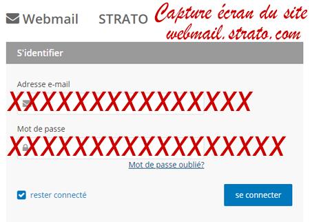 comment se connecter à son compte Webmail Strato?