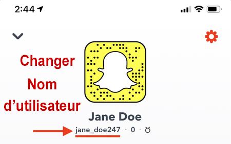 Comment modifier son nom d'utilisateur Snapchat?