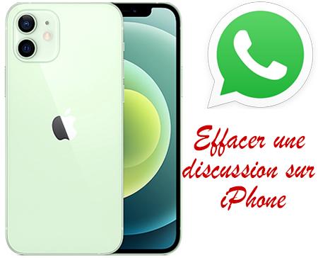 Comment supprimer une discussion WhatsApp sur iPhone?