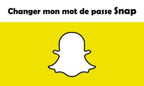 changer un mot de passe Snapchat