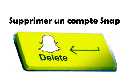 supprimer un compte snapchat