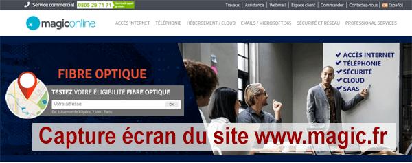 Comment procéder pour créer mon compte Webmail Magic Online ?